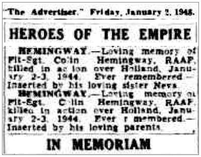 HEROES OF THE EMPIRE - IN MEMORIAM - 02 Jan 1948