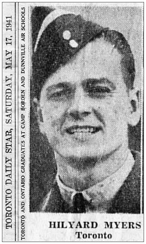 Toronto Daily Star, Saturday, May 17, May 1941 - page 21 - Hilyard Myers, Toronto