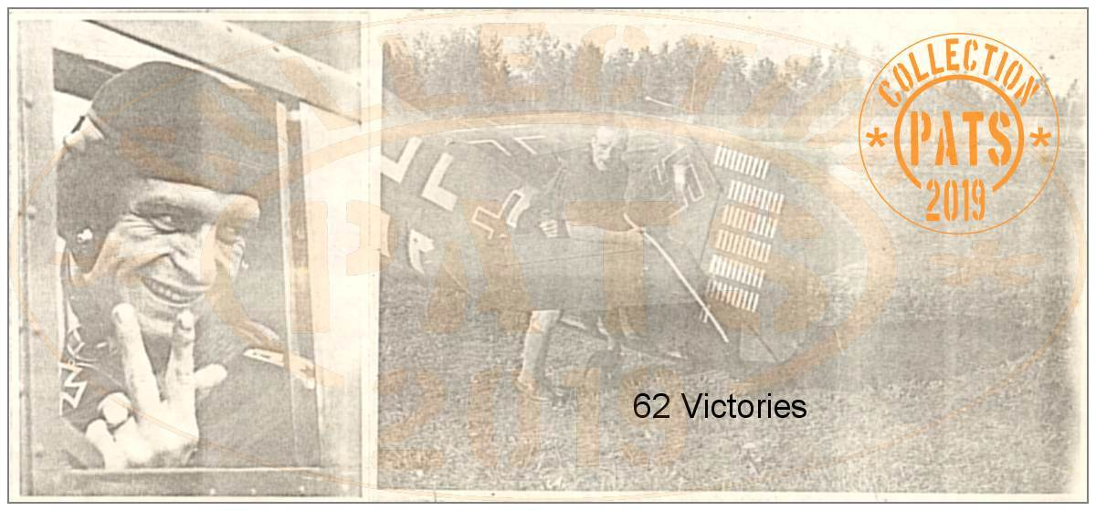 Cockpit - Heinz Klöpper - Rudder with 62 'victory' markings