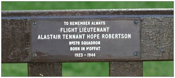 Hope-Robertson bench in Moffat