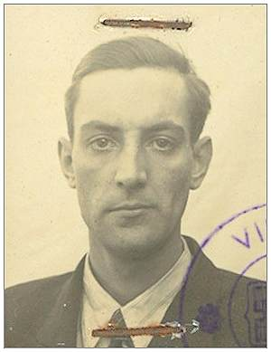 ID photo - Alan R. Willis - on fake ID papers in Belgium - 1944