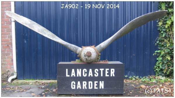 Lancaster Garden - Lindeweg 6 - Propeller - JA902 - photo by PATS - 19 Nov 2014