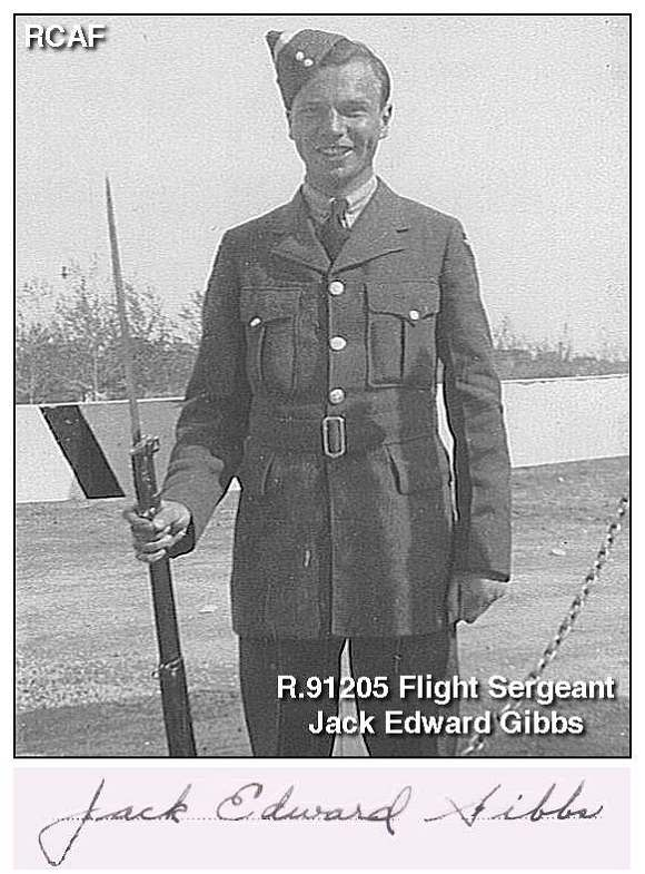 Flight Sergeant Jack Edward Gibbs - RCAF
