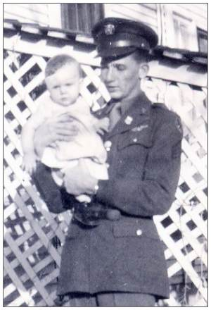 S/Sgt. Jack Wilson Childers with Ruth Ellen Childers '1st cousin'