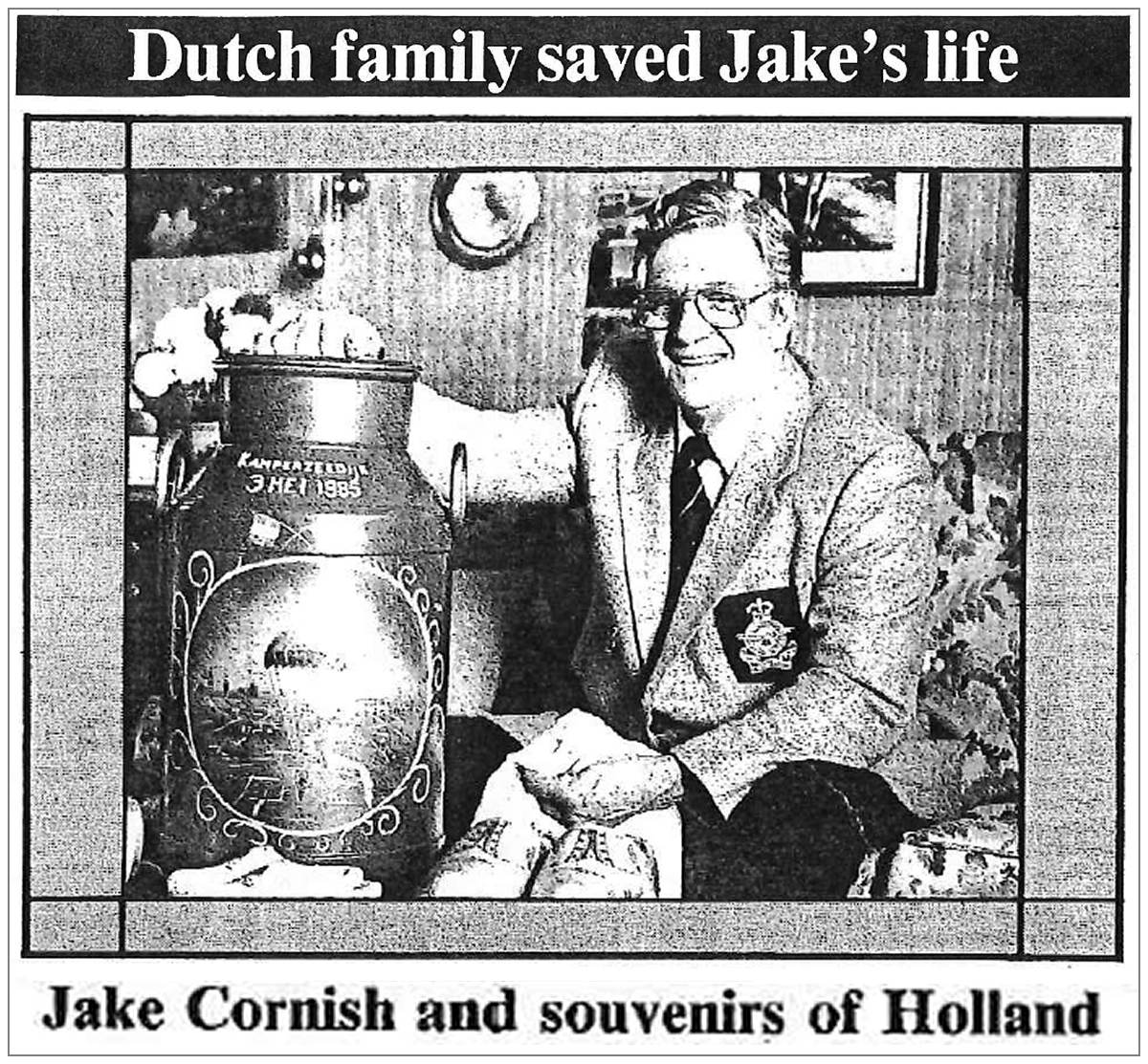 Jake Cornish and souvenirs of Holland