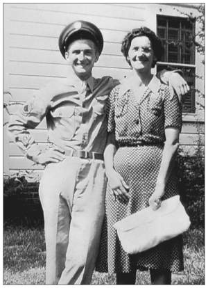 James Carl Owens with his Mom Eva