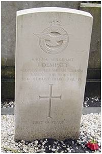 Headstone - Sgt. James Dempsey - Cemetery Delfzijl