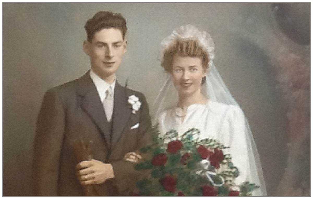 James Noble and Margaret Henderson - wedding photo