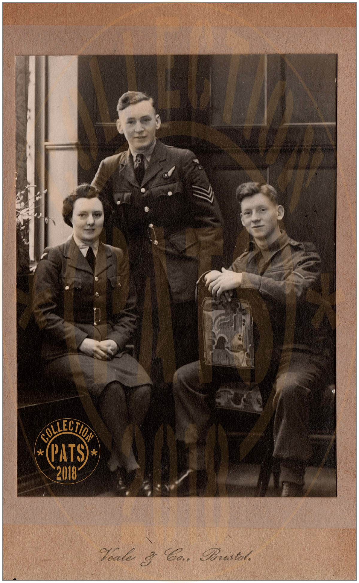 Joan (~24), Jack (~19) and George Manley (~16) - 1943