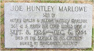 Sgt. Joe Huntley Marlowe - Marker - Conway, SC
