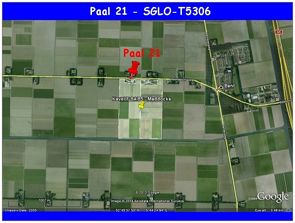 Kavel F84/85 - Paal 21 - SGLO T5306