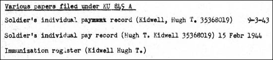 Kidwell - Papers filed in KU 849 A