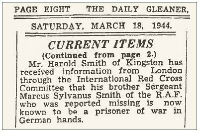 The Daily Gleaner, 18 Mar 1944, page 8 - Kingston, Jamaica - Harold Smith / Marcus Sylvanus Smith