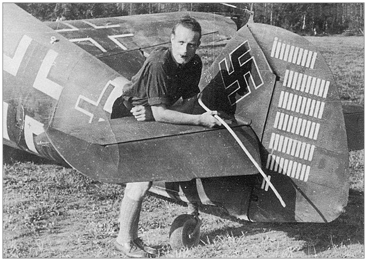 Oberfeldwebel Heinz Klöpper - rudder with 62 'victory' markings - 11./JG 51 - abt. Oct 1942