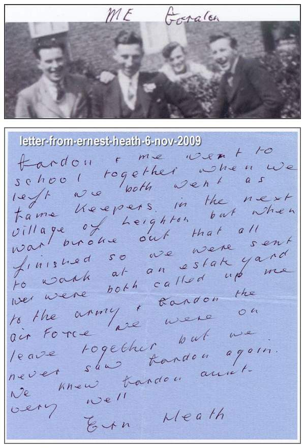 Letter from Ernest Heath, Much Wenlock - 06 Nov 2009