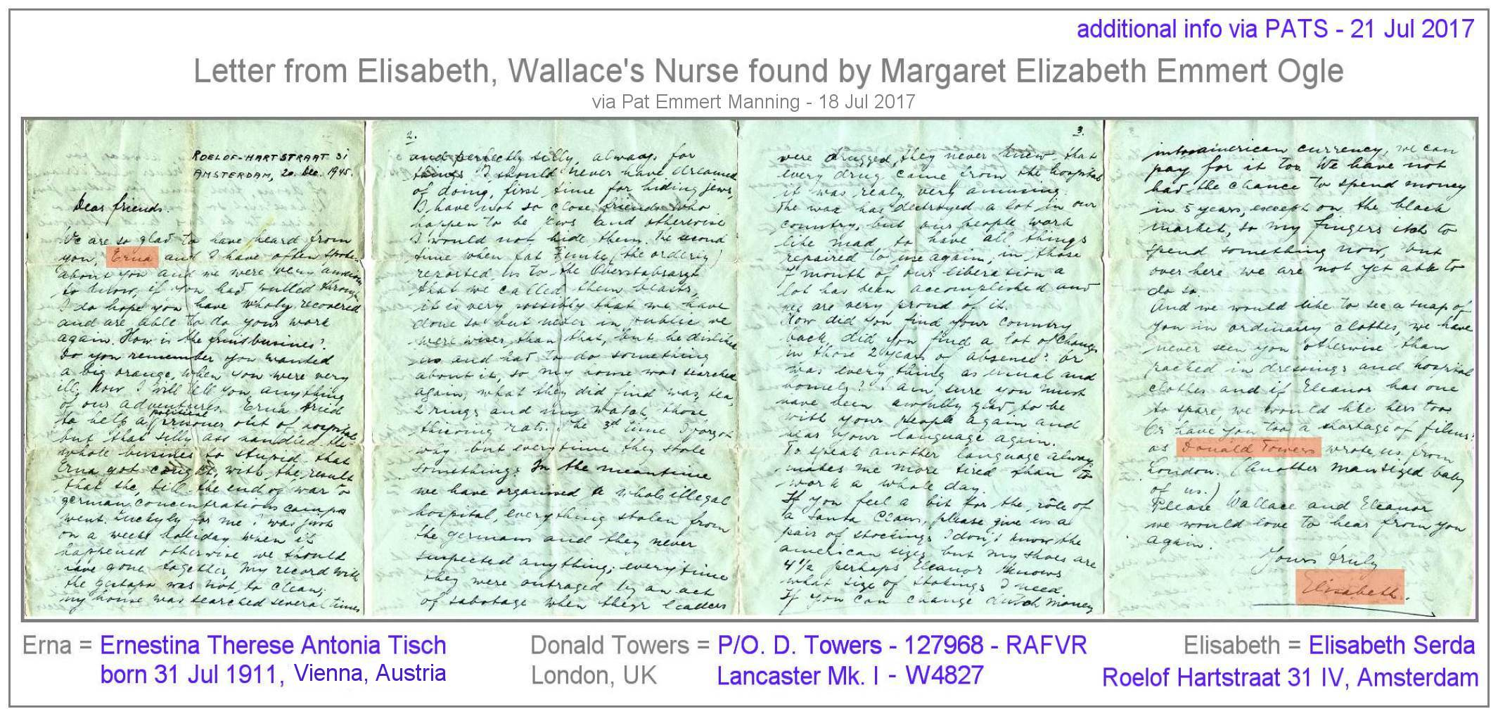 Letter of Elisabeth - 20 Dec 1945, Amsterdam