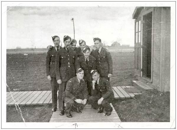 Sgt. Alfred David Leyshon  with unknown buddies