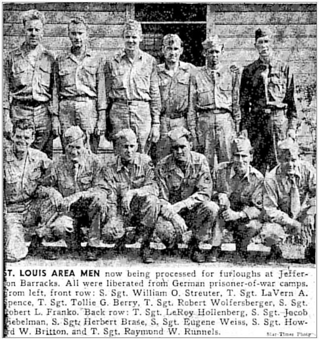 Sgt. William Owen Streuter - liberated POW - St. Louis area men - Star-Times photo