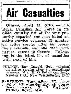 Casualties Air Force - list 546 - Missing