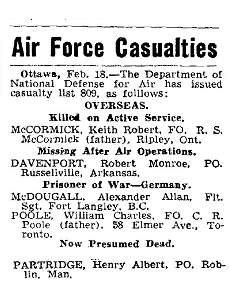 Casualties Air Force - list 809 - Missing
