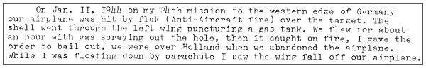 Cause of crash - letter by William B. Lock to W. Noordman - 09 Oct 1987