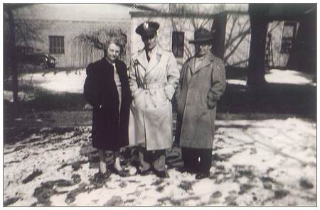 Lt. Jack Lanphier with his parents - at family home in Painesville, OH - early 1943