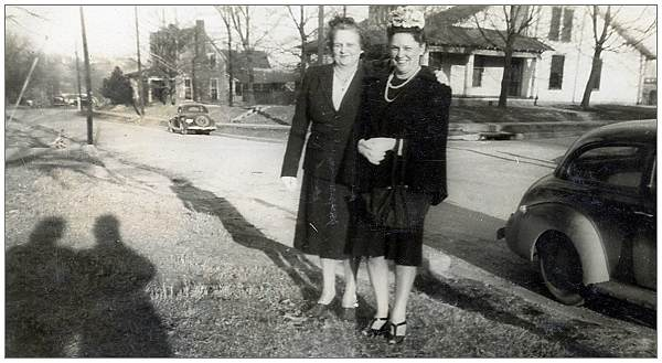 Mrs. Mae S. Thompson with Mrs. Vennie Stewart