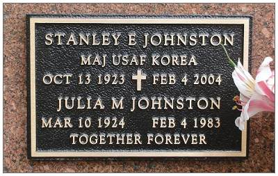 MAJOR USAF KOREA - Stanley Eugene Johnston