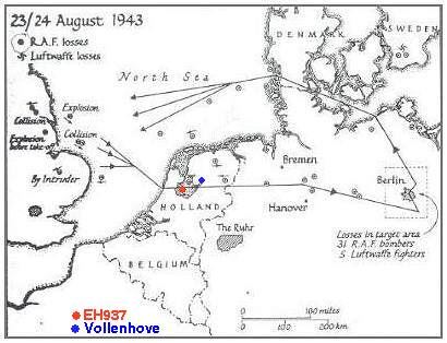 Map 23-24 Aug 1943