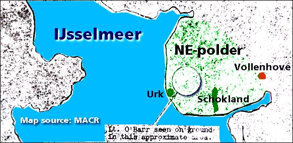 Map - IJsselmeer area - O'Barr seen on ground