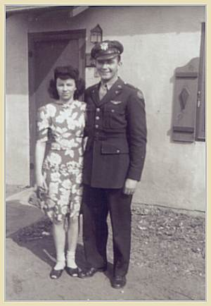 2nd Lt. Darvin A. Smith with his wife Marcella, Dalhart, TX