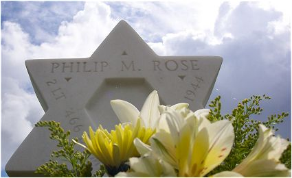 Headstone - Rose - Margraten, NL