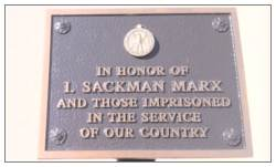 O-735623 - 2nd Lt. Isaac Sackman Marx - In Honor Of