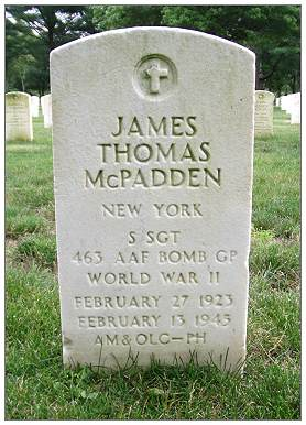 31289647 - S/Sgt. - James Thomas McPadden - Tombstone - Long Island National Cemetery