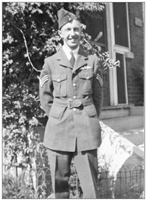 F/Sgt. Merrill George Bailey - RCAF - photo via SMAMF - Douwe Drijver - 07 Oct 2013