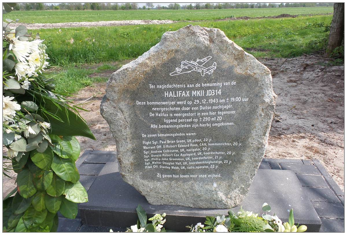 Memorial Monument for JD314 - unveiled 03 May 2017