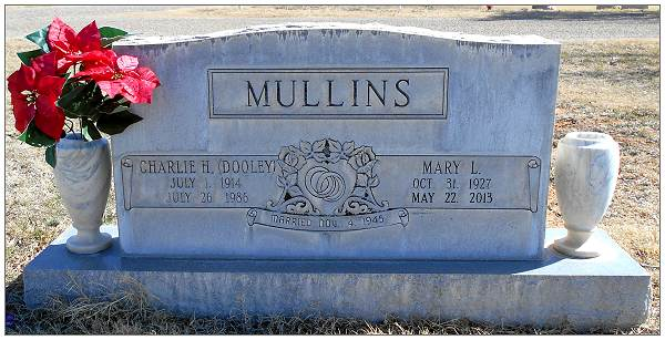 Headstone - MULLINS - by: Steve McAnelly - 16 Feb 2016