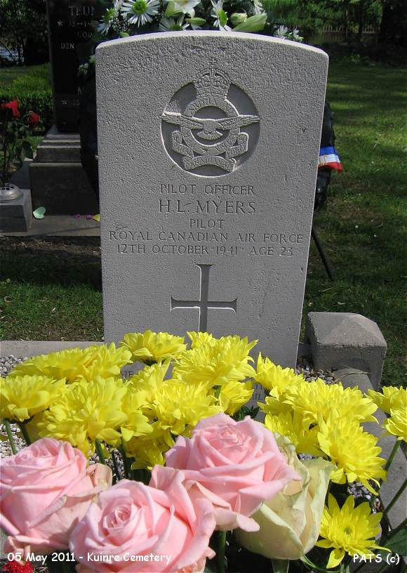 Headstone - Myers - Kuinre Cemetery - 05 May 2011 by PATS
