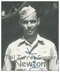 Newton as on crew photo - May 1943