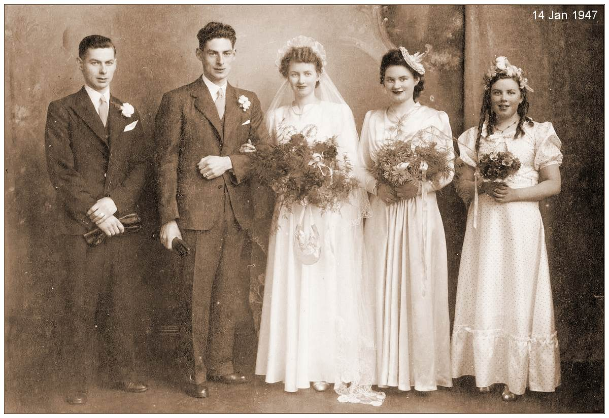 l-r: John Noble, James Noble, Margaret Henderson, Lily Henderson and Nan Henderson
