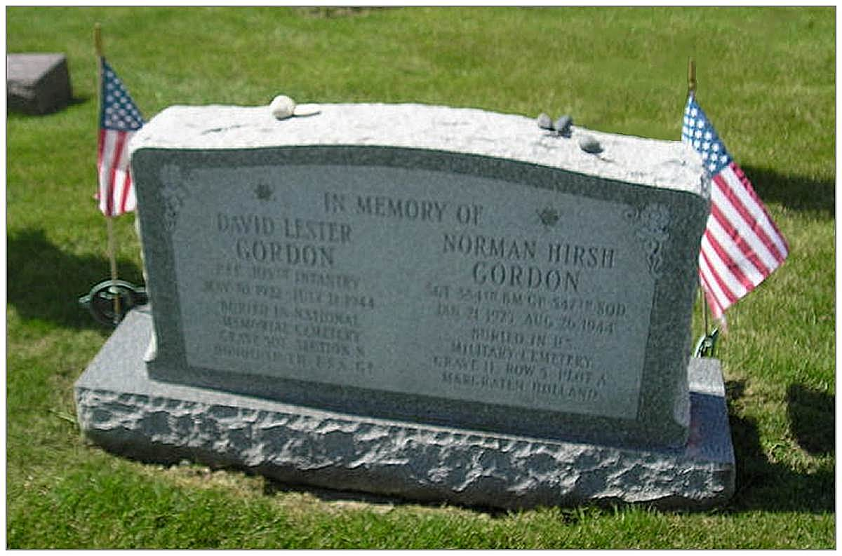 Racine Jewish Memorial Cemetery - David Lester Gordon -
