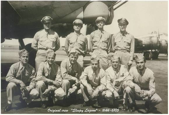 Original crew of 'Sleepy Lagoon' - via Mrs. R. G. Buimer