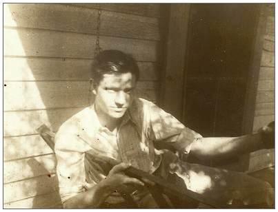 Orville Spelce Good - on porch - Huntsville, 1941