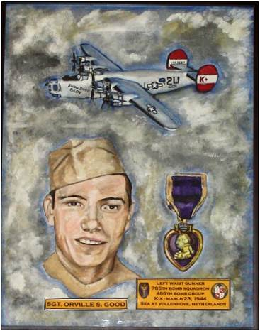 Tribute painting for Sgt. Orville S. Good by Timothy Good (nephew)