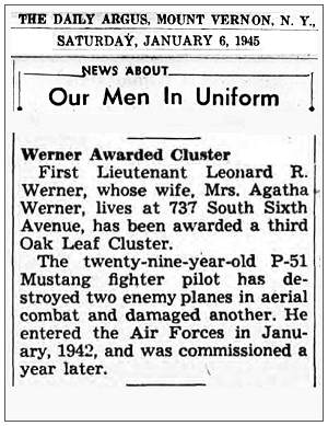 Our Men In Uniform - 06 Jan 1945 - L. R. Werner