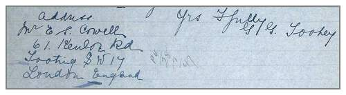 Address Mr. E. S. Cowell - in letter Mr. J. J. Toohey - 22 Jan 1947