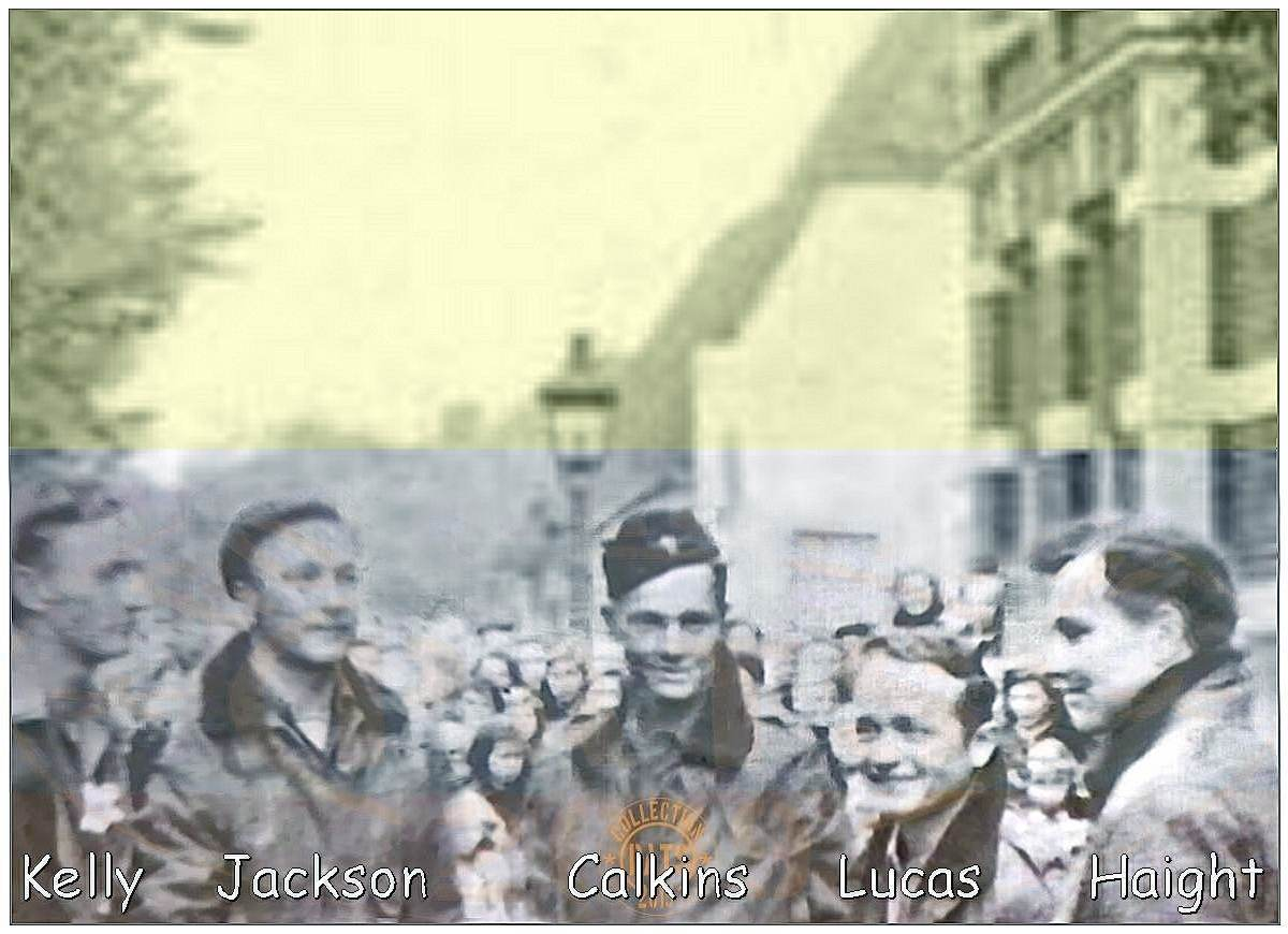 Panorama-collage - Liberation Vollenhove - near Hagensdorp, Sunday 15 Apr 1945