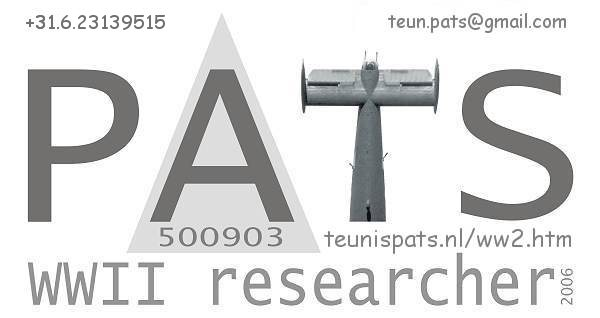 PATS - WWII researcher since 2006 - SGLO Member since Apr 2007