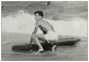 James Lonnie Peck - 1941 - on the beach of NC - courtesy CFM