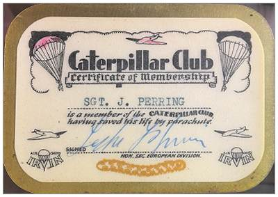 Membership - Caterpillar Club - Sgt. James Frederick Perring